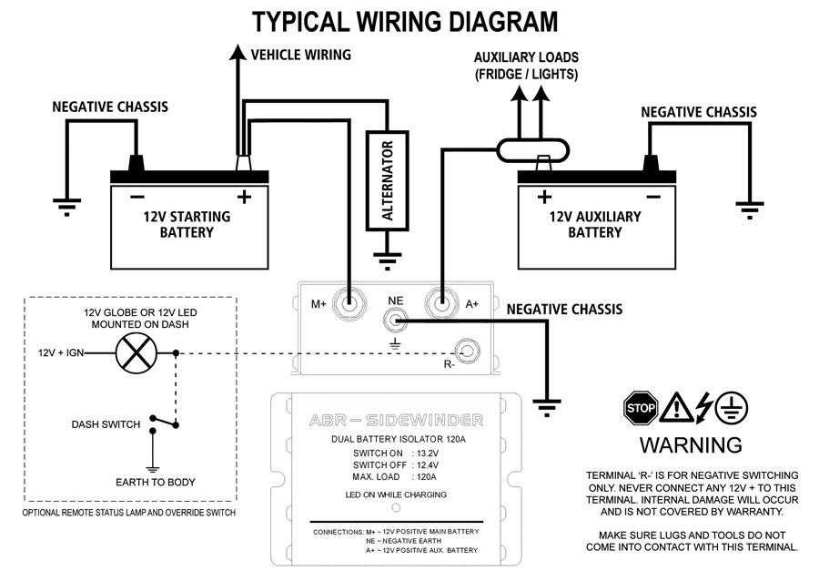 typical battery isolator wiring diagram prado lc150 2010 battery isolator wiring diagram sp #15